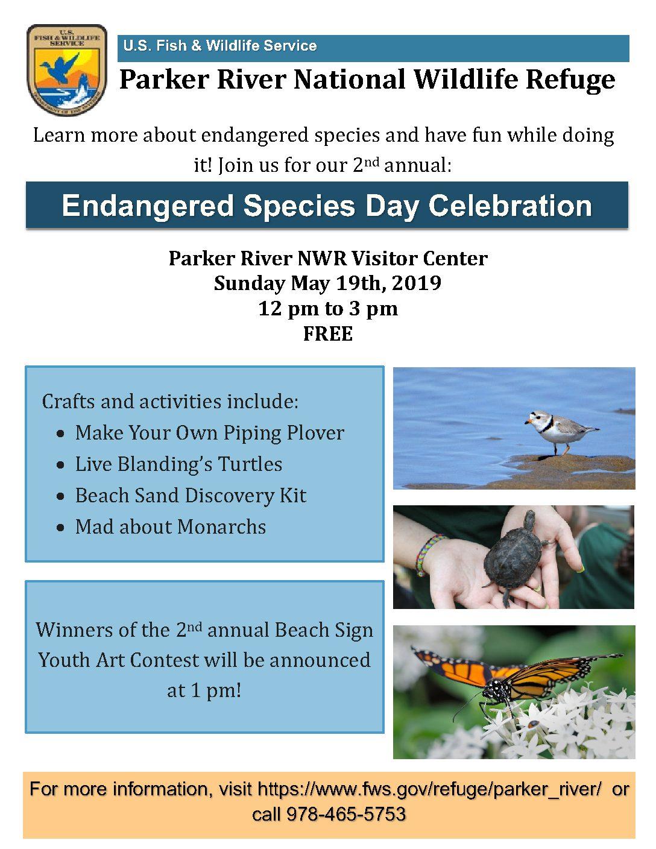 2019 Endangered Species Day Celebration Flyer