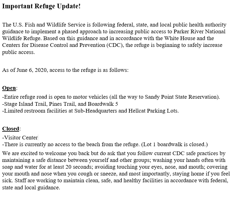 Important Refuge Update