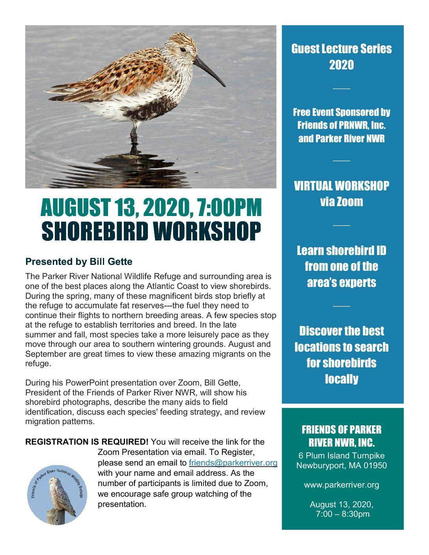 Shorebird Workshop Flyer